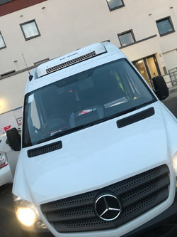 cctv protected vans outside