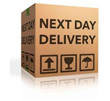 parcel with message next day delivery